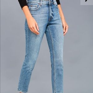 NWT Cheap Monday Medium Wash Straight Leg Jeans
